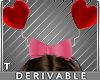 T Valentine Bow Headband