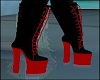Black Red Boots
