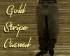 Gold Stripe Casual Pants