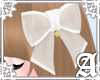 Sheer Ribbon Clip~ White