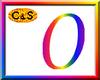 C&S Rainbow Letter O