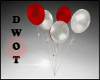 D- Red/White Ballons
