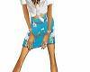 blue blossom skirt