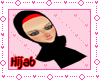 2Layers of Hijab red&blk