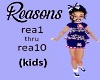 (Kids) Reasons song