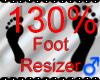 *M* Foot Resizer 130%
