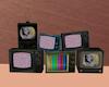 Broken TVs Neon Animated