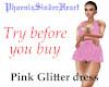 Pink Glitter dress