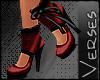 -V- Burles Heel Red