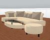 light beige section sofa