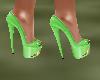 !Em LimeGreenGold Heels
