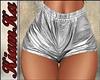Shorts plasticos plata