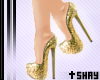 Gold Glittery Shoes