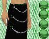 Green/Black Chain Skirt
