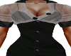 Meries Black/Grey Dress