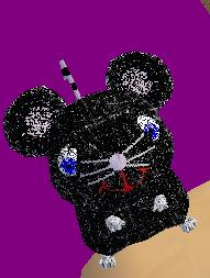 Black Glitter Rat