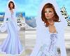Fur Hood Winter Gown Blu