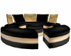 black & gold club couch