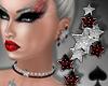 Cat~ Xmas Star Earrings