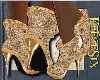 #KS# Gold AnkleBoots