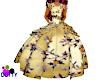 child golden ballgown