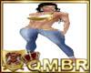 QMBR TBRD RLL Jeans Gld