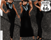 SD Black Sequined Gown