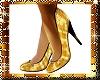 Golden glitter shoes - F