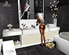 Bathroom set and mirror