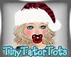 Blonde Hair Santa Hat