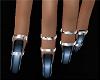 Nails Metal Blue + Rings