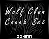 Wolf Clan Couch Set