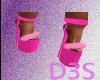 [B4RB13] pink fur heels