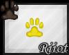 !R; Paw Sticker Yellow