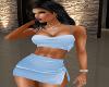 Sky Blue Skirt Set
