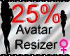 *M* Avatar Scaler 25%