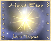 Hand Star  L Topaz