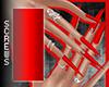Satin Nails Red