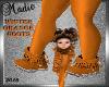 Winter Orange Boots Kids