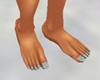 blue sparkle toenails