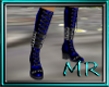 metallic blue boots