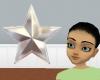Silver Xmas Tree Star