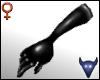 Black leather gloves (f)