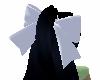 Black Hair w/white bow