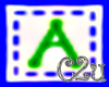C2u letter A Sticker