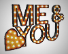 Me & You Marquee Letters