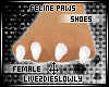 .L. White Feline Paws