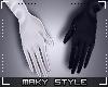 M:Blk&white gloves
