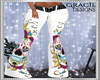 White Sugar Skull Pants