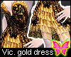 Victoriana Gold Dress